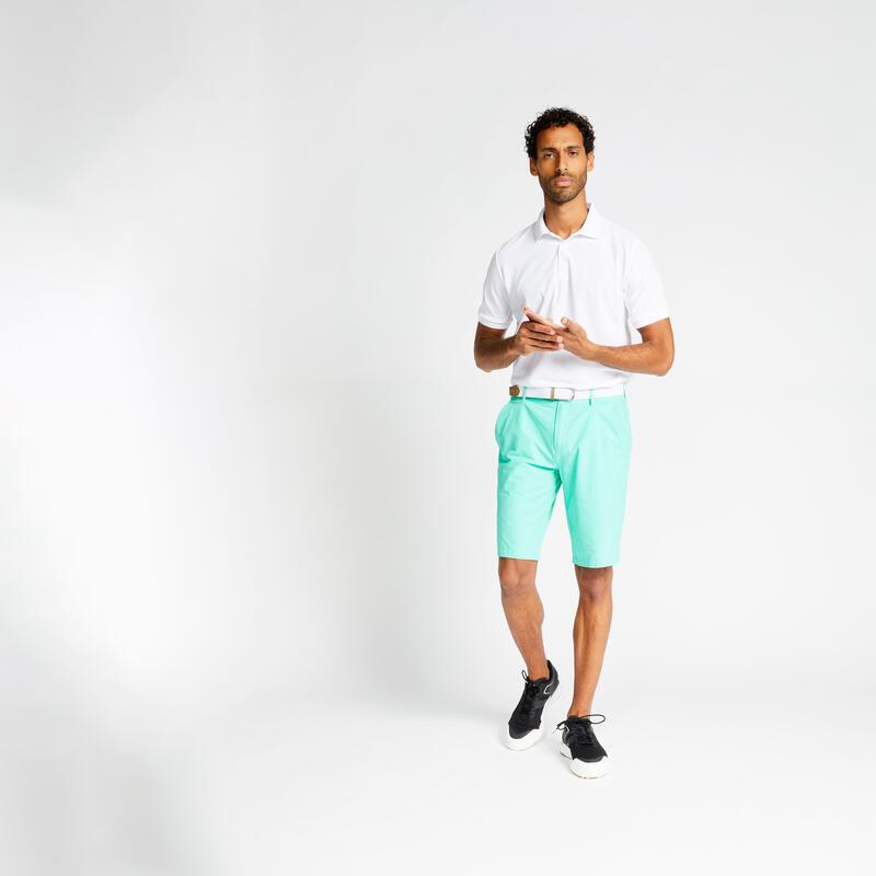 Men's golf short-sleeved polo shirt WW500 white