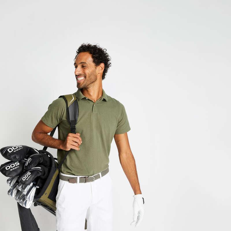 MUŠKA ODJEĆA ZA GOLF U BLAGIM VREMENSKIM UVJETIMA Golf - Majica kratkih rukava za golf INESIS - Golf