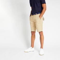 Men's golf shorts MW500 beige