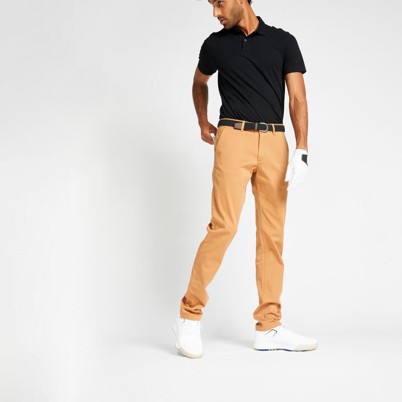 Pantalon de golf homme MW500 noisette
