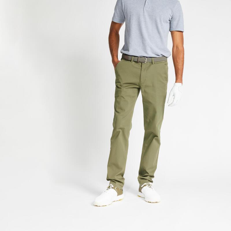 Pantalon de golf homme MW500 kaki