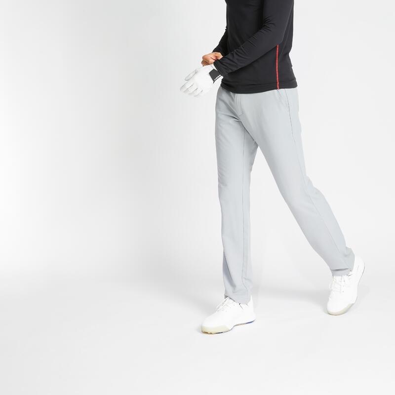 Pánské golfové kalhoty do chladného počasí CW500 šedé