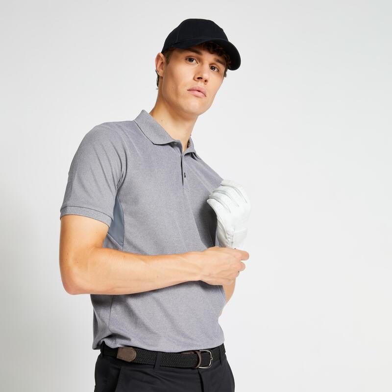 Polo de golf manches courtes homme WW500 gris