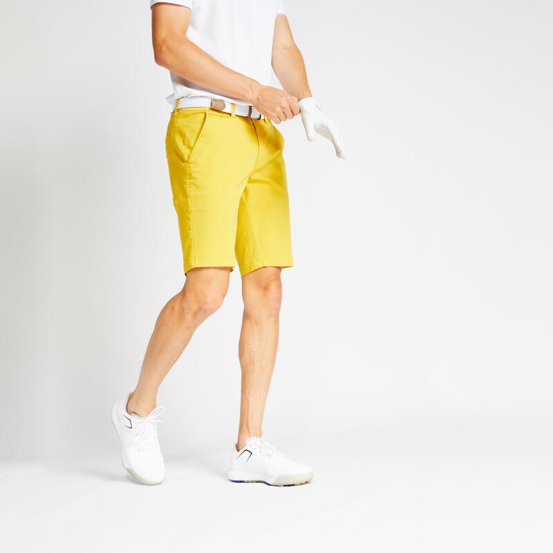Short de golf homme MW500 ocre