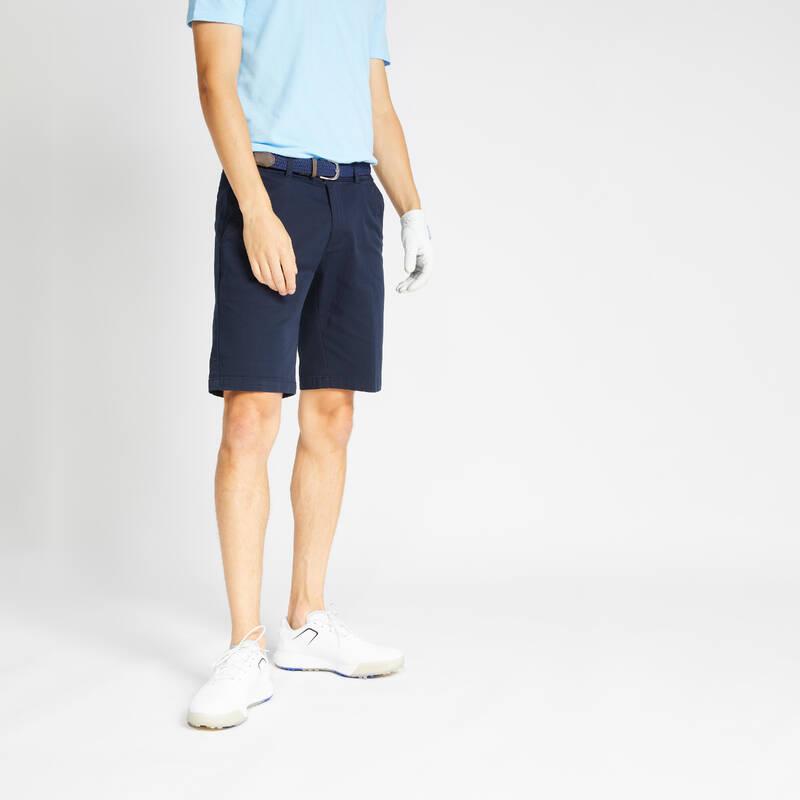 PÁNSKÉ GOLFOVÉ KRAŤASY, MÍRNÉ POČASÍ Golf - KRAŤASY MW500 MODRÉ INESIS - Golfové oblečení