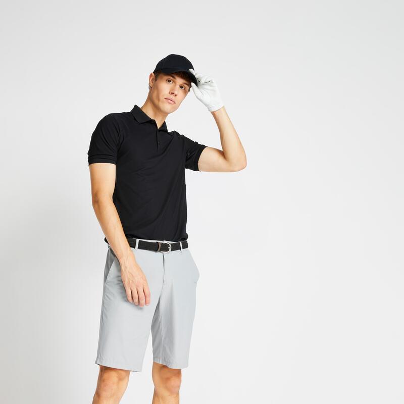 Pánské golfové polo WW500 černé
