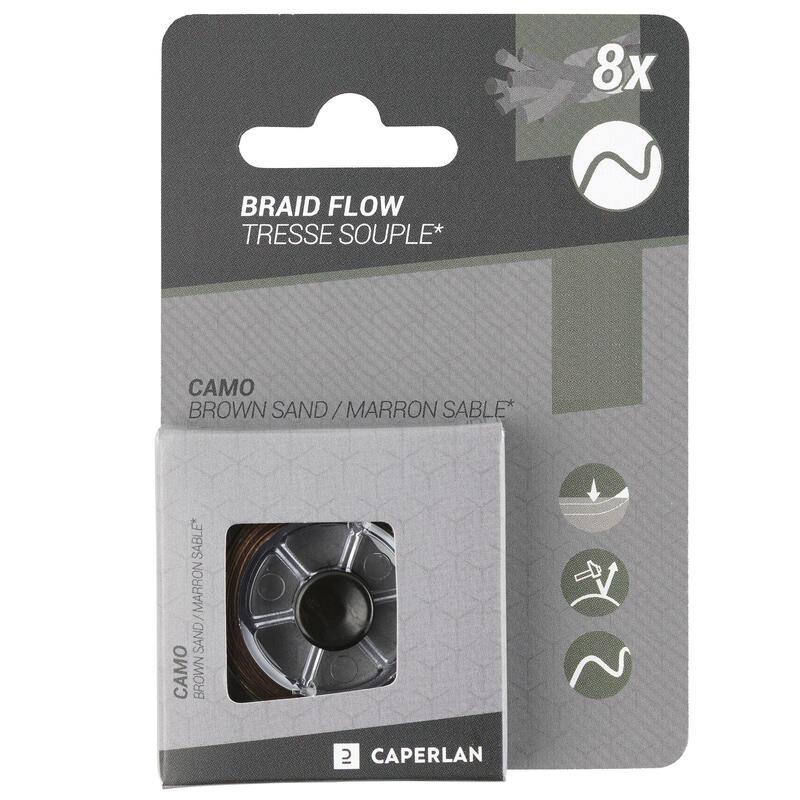 Braided carp fishing leader Flow - brown/sandy