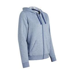 Warm Zippered Fitness Hoodie - Blue