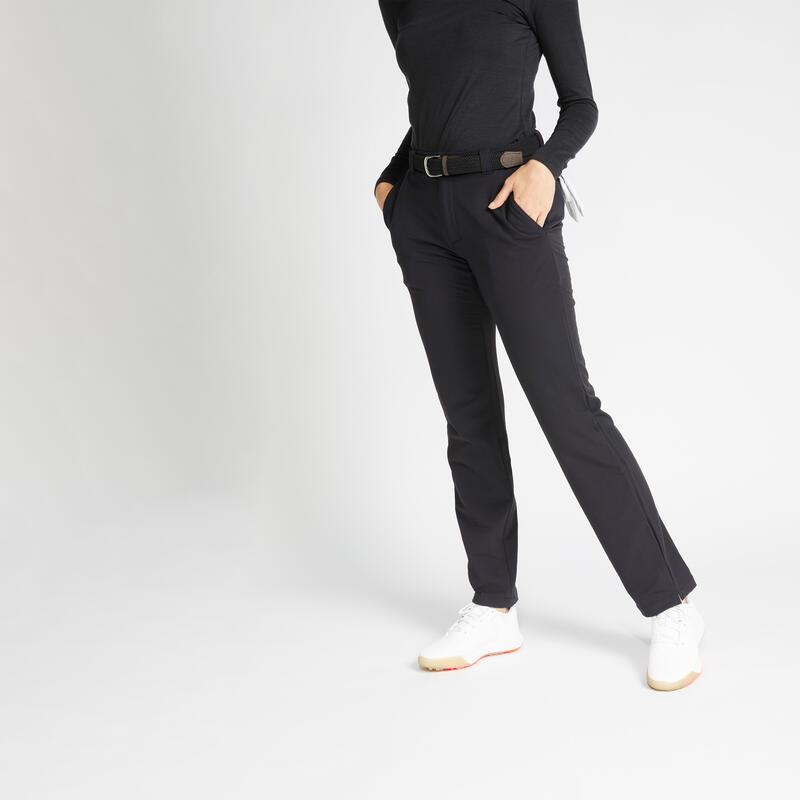 Pantalon de golf hiver femme CW500 noir