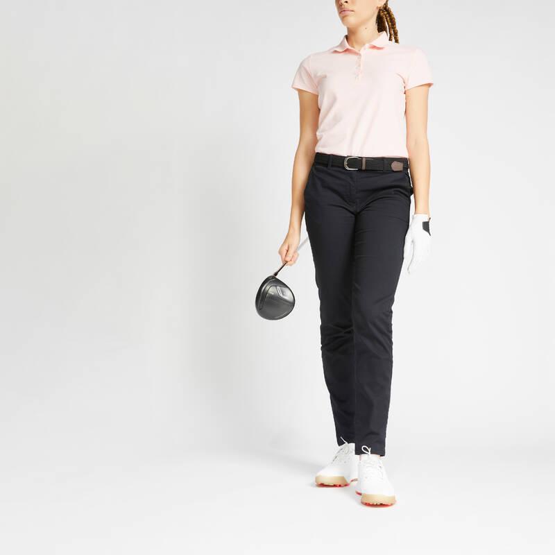 DÁMSKÉ GOLFOVÉ KALHOTY - MÍRNÉ POČASÍ Golf - DÁMSKÉ KALHOTY MW500 ČERNÉ INESIS - Golfové oblečení
