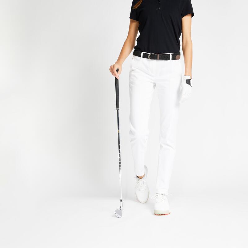Pantalon de golf femme MW500 blanc