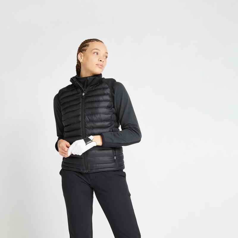 Doudoune sans manches de golf hiver femme CW500 noire
