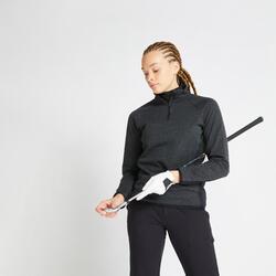 Fleece golftrui voor dames winter CW500 zwart