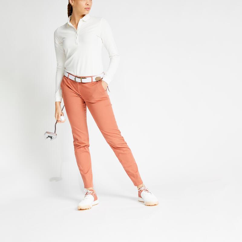 Pantalon de golf femme MW500 terracotta bio