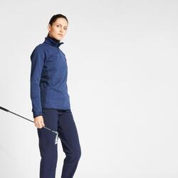 Fleece golftrui voor dames winter CW500 marineblauw