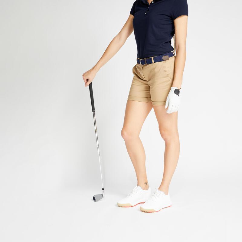 Short de golf femme MW500 beige