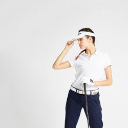 Polo de Golf MHW500 Manga Curta Mulher Branco