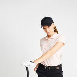 Polo de Golf MW500 Manga Curta Mulher Rosa pálido