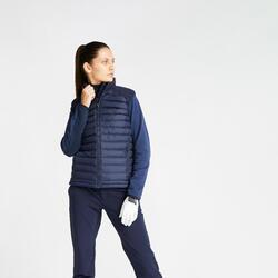 Doudoune de golf sans manches hiver femme CW500 bleu marine