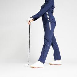 Regenbroek voor golf dames RW500 marineblauw