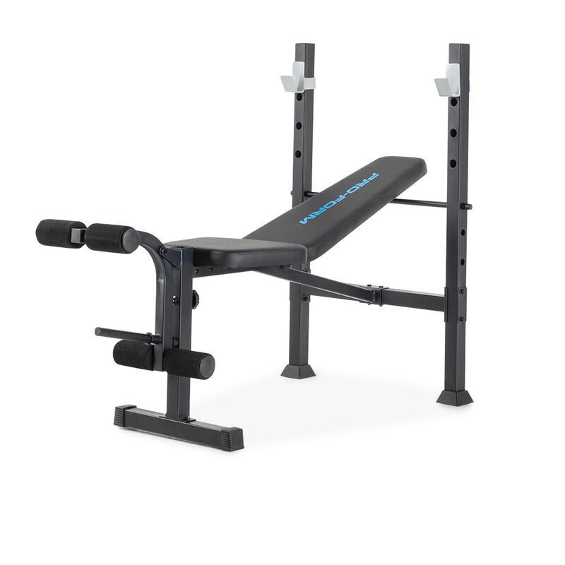Banco musculación pesas abdominales olímpico Proform MultiFunction XT gimnasio p