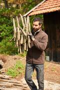 Poľovnícke mikiny POĽOVNÍCTVO - RECYKLOVANÁ MIKINA 500 HNEDÁ SOLOGNAC - POĽOVNÍCKE OBLEČENIE