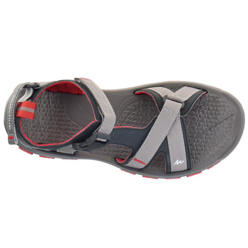 NH110 Men's Country Walking Sandals - Grey Red