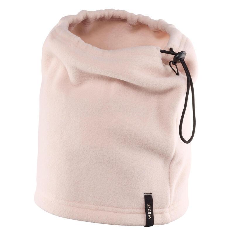 Gola Polar de Ski Adulto com Cursor Autobloqueante Rosa pálido