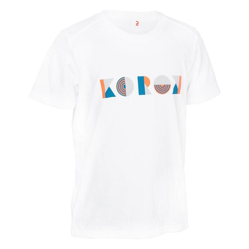 Camiseta de hockey sobre hierba niña FH110 rosa y turquesa