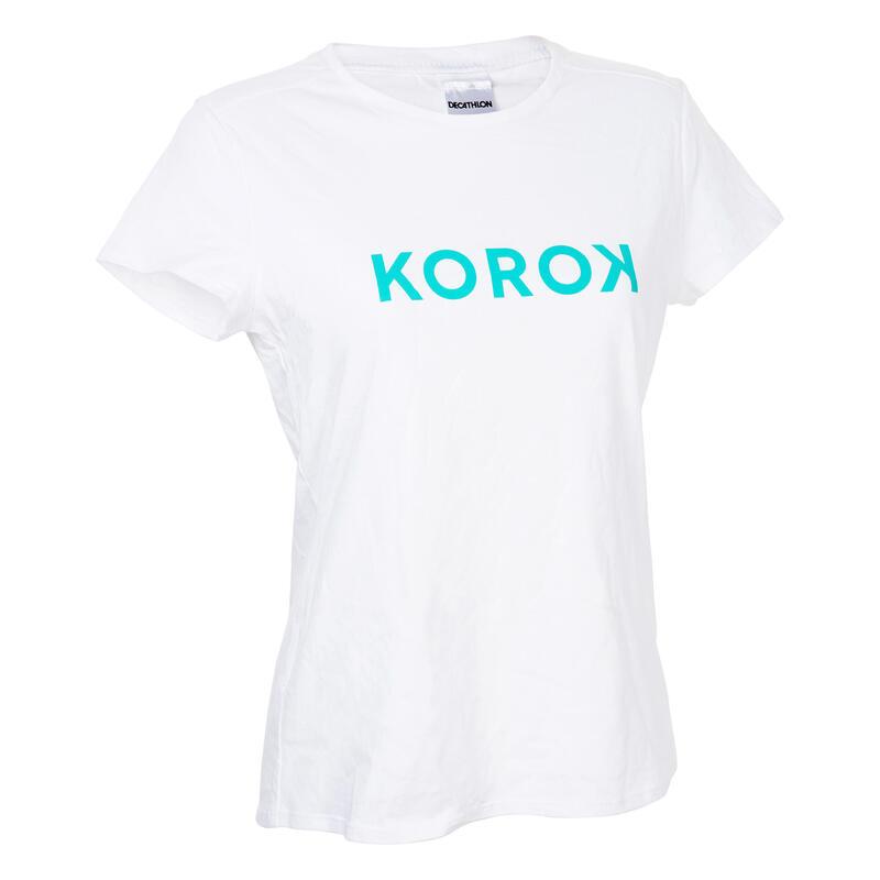 Camiseta de hockey sobre hierba mujer FH110 turquesa