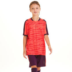 Camisola Futebol Criança F500 Coral