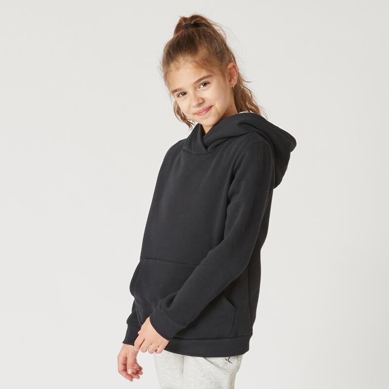 Dívčí mikina s kapucí 100 černá