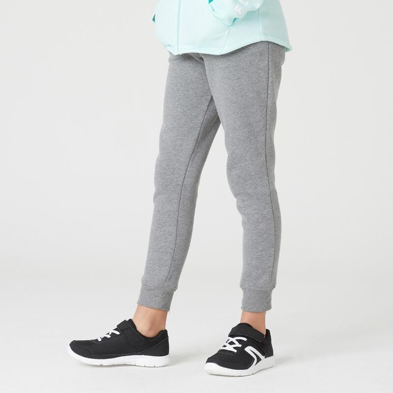 Pantalon din molton Călduros Educație fizică și sport 100 Gri Fete