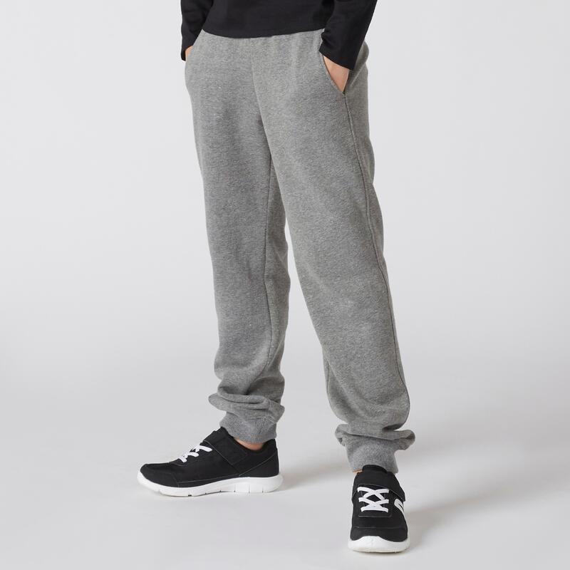 Pantalón jogger básico con bolsillos gris NIÑOS