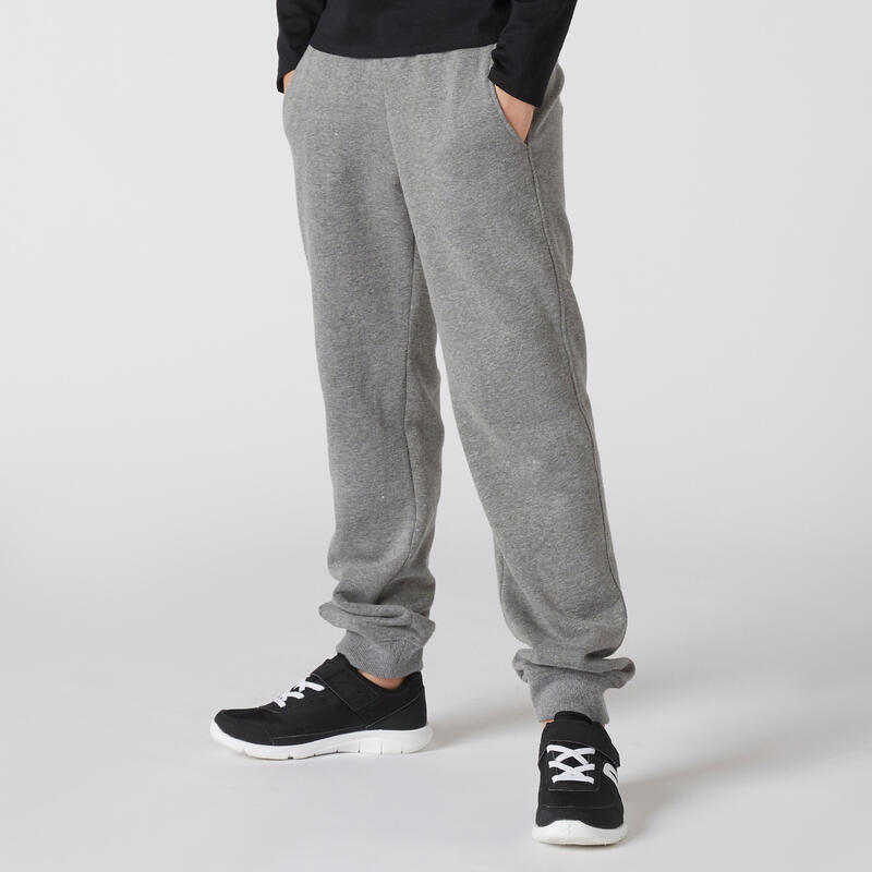 Pantalon de jogging basique à poches gris ENFANT