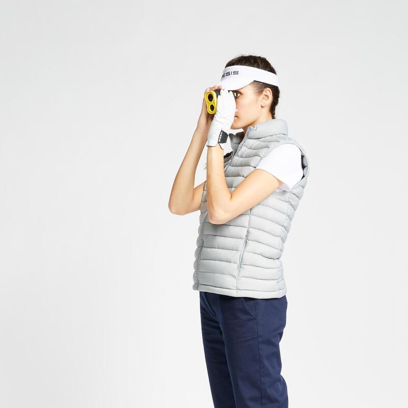 Doudoune duvet sans manches de golf Femme MW500 grise
