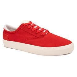 Calçado Vulcanizado de Skate Adulto VULCA 500 II Vermelho/Branco