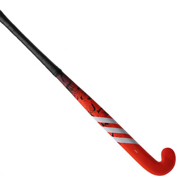 Stick de hockey sur gazon enfant bois King.9 Rouge Blanc