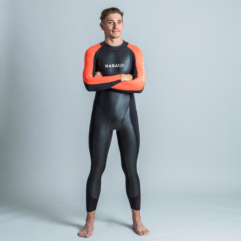 Neopreen herenwetsuit voor zwemmen in open water ows 2/2 mm