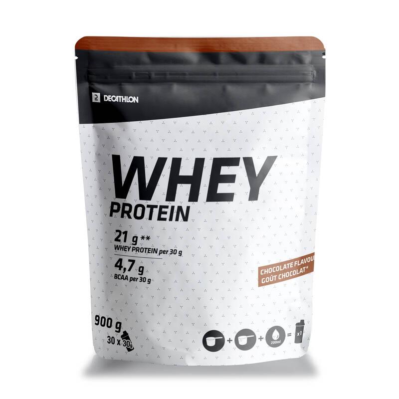 PROTEINY / DOPLŇKY STRAVY Proteiny a gainery - PROTEIN WHEY 900 G ČOKOLÁDOVÝ DOMYOS - Proteiny a gainery