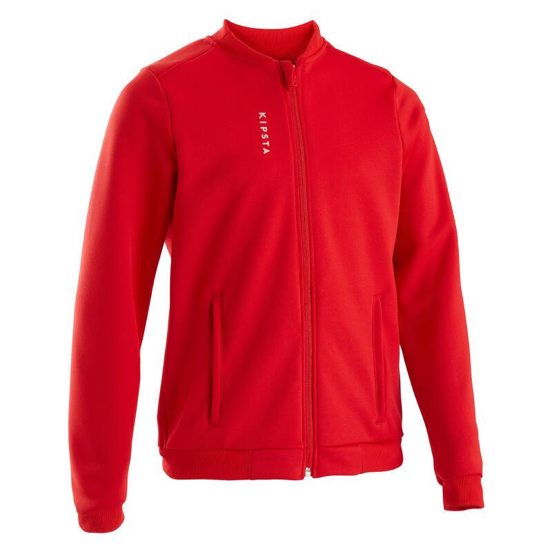 Veste d'entraînement de football enfant T100 Rouge - Belgique