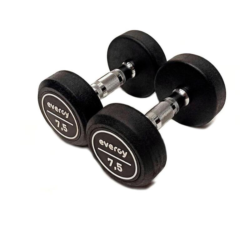 Kit Mancuernas 7,5 kg Goma Evergy Musculación