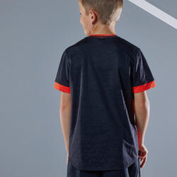 T-Shirt 500 Jungen rot/schwarz