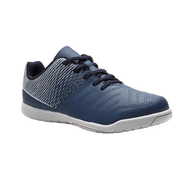 Chaussures de Futsal enfant 100 bleu gris