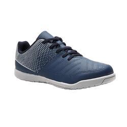 Scarpe futsal bambino 100 blu-grigio
