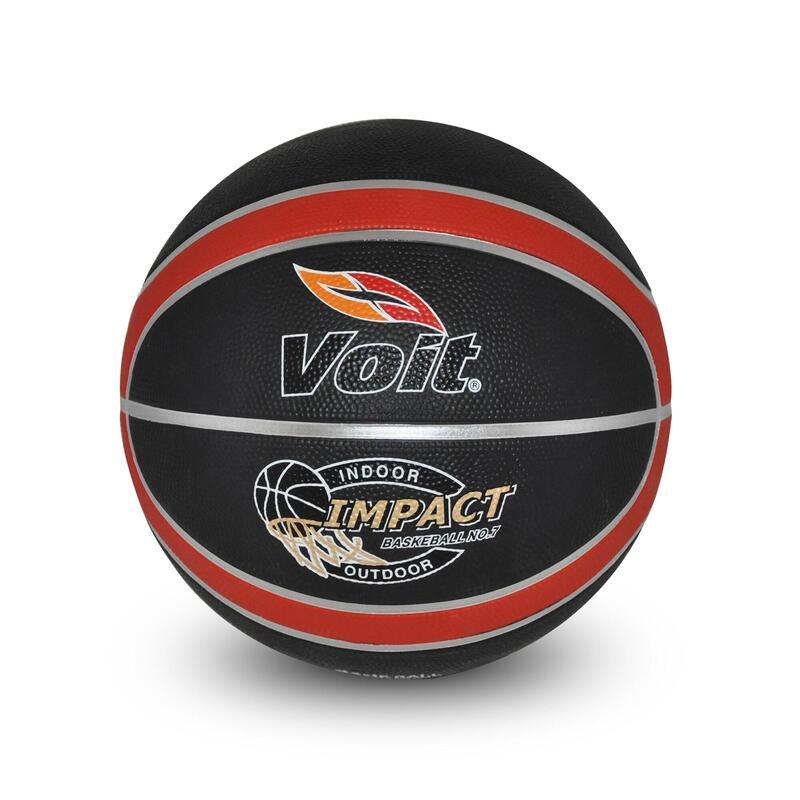 Basketbol Topu - 7 Numara - Siyah Kırmızı - Impact