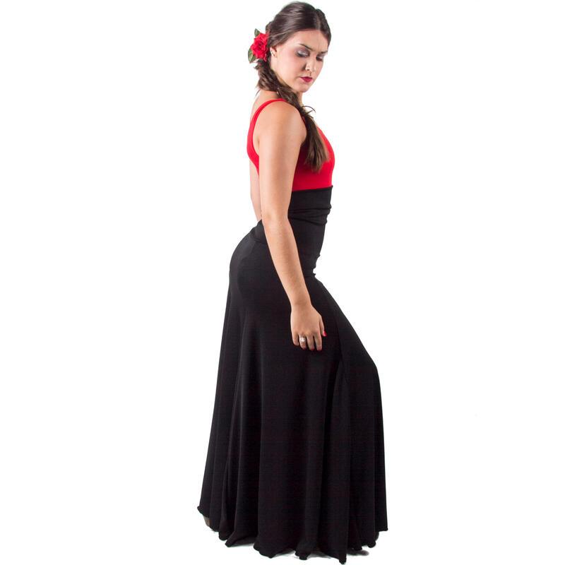 Falda Flamenco Mujer Negro Ensayo El Rocio