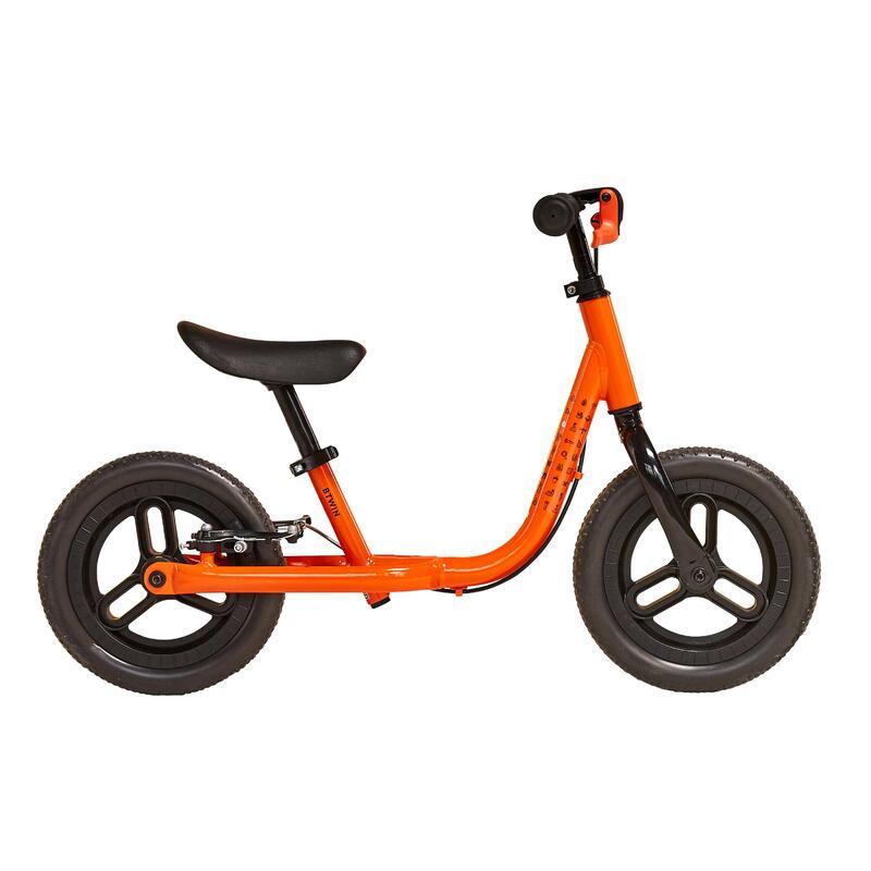 """Kids' 10"""" Balance Bike Runride 500 - Orange/Black"""