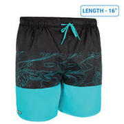Men's Surfing Boardshorts 100 Short - Blockoi Turquoise