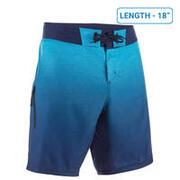 Men's Surfing Boardshorts 500 Mid - Gradient Blue